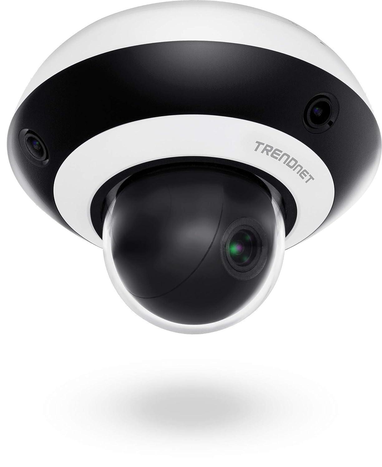 TRENDnet Multi-Sensor H.265 1080P PoE+ PTZ Camera, 1X 2MP Ptz Camera (2.8-12mm Optical Zoom), 3X 2MP Fixed Cameras (2mm), 360° Video Coverage, IR Night Vision Up to 10M (33 ft.), TV-IP460PI