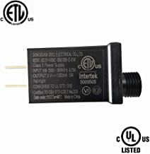 Ubill 5V LED Power Supply 1000mA 5W LED Transformer Raintight IP44 Low Voltage Adapter UL ETL Listed Lighting Driver for LED String Light, Holiday Lighting