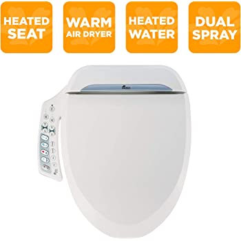Bio Bidet Bliss Bb2000 Elongated White Smart Toilet Seat Premier Class Unlimited Warm Water Vortex Wash Amazon Com