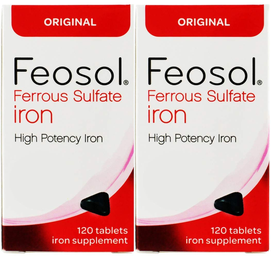 Feosol Ferrous Sulfate Iron 120 Count Bargain New product! New type sale 2 High of Pack Potency