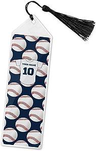 Baseball Jersey Book Mark w/Tassel (Personalized)