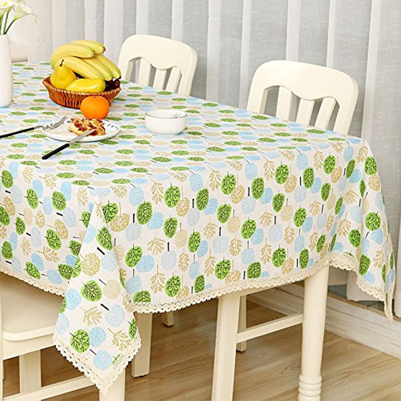 VLIMG Tischdecken , Frische einfache Baumwollspitzetischdecken, dreifarbiger Baum, 140  220CM B07B2XWT9Z Am wirtschaftlichsten   Export
