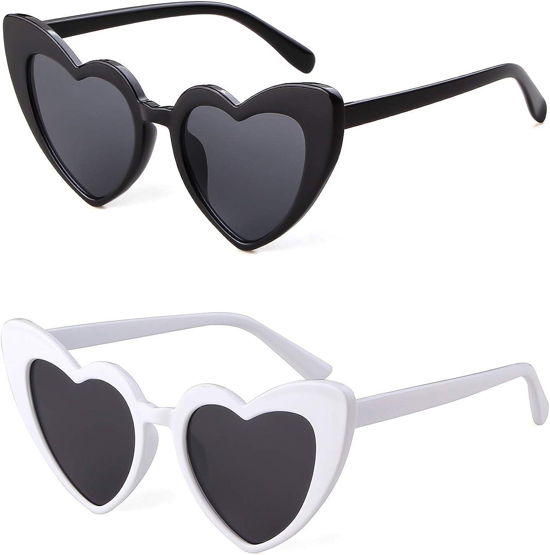 GIFIORE Heart Sunglasses Vintage Cat Eye Clout Goggles Retro Kurt Cobain Glasses