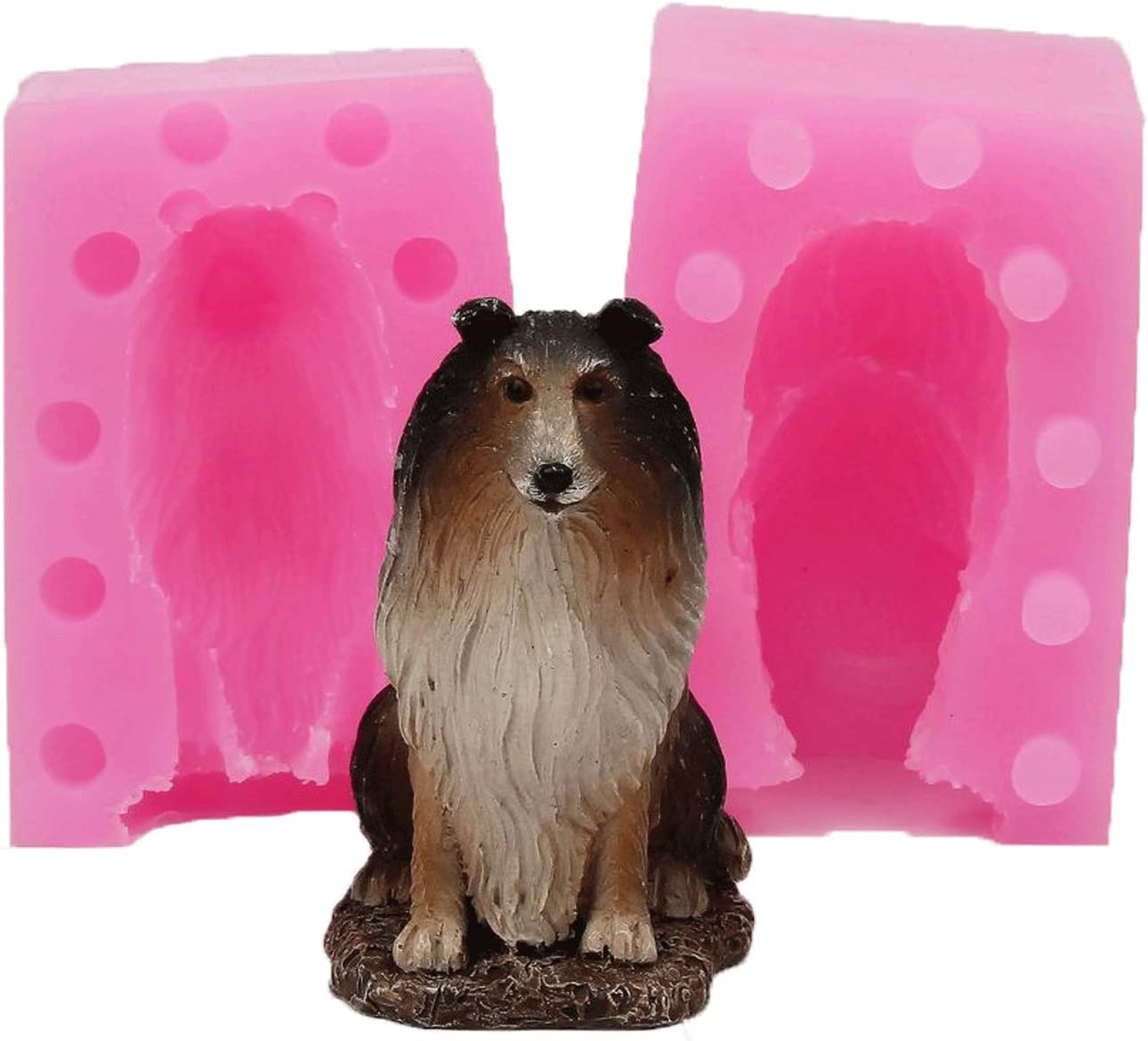 BIASTNR 3D Dog Candle Mold Silicone Long-awaited Molds Cute Pu Cheap super special price