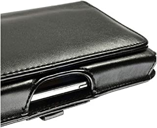 DFV mobile - Belt Cover Premium Executive Synthetic Leather Horizontal Design and Clip Metal for LG H440N Spirit 4G (LG C70) (2015) - Black