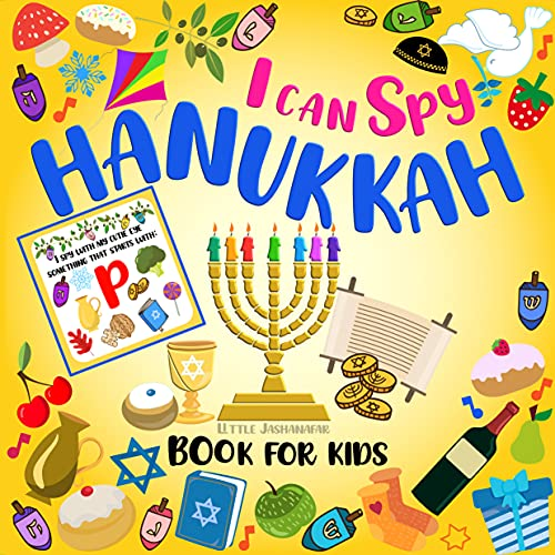 I Can Spy Hanukkah Book For Kids Ages 2-5 : Chanukah Book For Toddlers Preschool | A Fun Guessing Game With Dreidels Religious Jewish Symbols | Jewish Holiday Activity Book