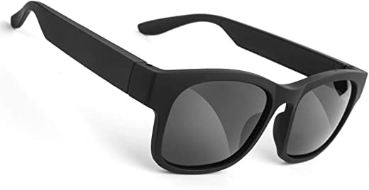 GELETE Smart Glasses Wireless Bluetooth Sunglasses Open Ear Music&Hands-Free Calling,for Men&Women,Polarized Lenses,IP4 Waterproof,Connect Mobile Phones and Tablets (Black)
