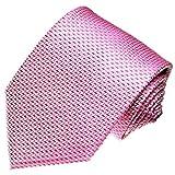 LORENZO CANA - Marken Krawatte aus 100% Seide in italienischer Tradition von Hand gefertigt - rosa rose Punkte - 42014