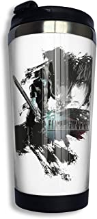 QEHAO Final Fantasy 15 Noctis Coffee Travel Mug Cup Stainless Steel Vacuum Insulated Tumbler 13.5 Oz