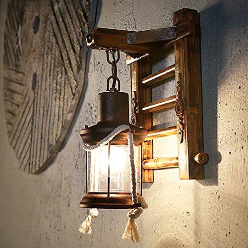 QYHOME Vintage Wandlampe,Retro Nostalgie Petroleumlampe Korridor Innenhof Cafés Loft [Energieklasse A++]