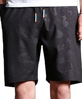 (アルファーフープ)α-HOOP メンズ レディース 5分 丈 ズボン 下 ハーフパンツ 短パン ふとめ 厚手 可愛い お洒落な セクシー 派手 綺麗め カジュアル アメカジ きれいめ ストリート オラオラ 学生 V b 系 TAN-4(03.黒(XL))