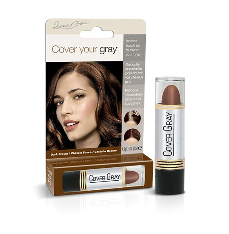 医療の疾患常習者Cover Your Gray Stick Dark Brown 44 ml. (Pack of 6) (並行輸入品)