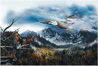 Hoffman Fabrics Call Of The Wild 30'' Soaring Eagle Panel Digital Fabric, Sky