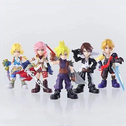 tomamos a los clientes como nuestro dios JTWMY Juguete Juguete Juguete Modelo Juego Personajes Final Fantasy 7 Adornos Recuerdo Coleccionables Artesanía Regalos Cinco Juegos de 10 cm Estatua de Juguete  disfrutando de sus compras