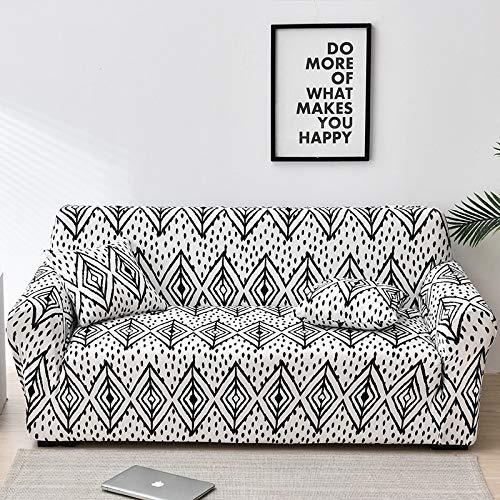 Fundas de sofá Florales para Sala de Estar Funda elástica para sofá Fundas para sofá Fundas para sofá Toalla para sofá Fundas sofás con Chaise Longue A23 2 plazas