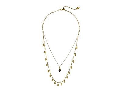 Kendra Scott Freida Multi Strand Necklace (Vintage Gold Golden Obsidian) Necklace