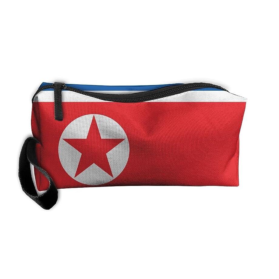 におい食料品店意外北朝鮮の国旗 化粧ポーチ 収納ポーチ コスメポーチ ペンケース ペンポーチ 小物入れ トラベルポーチ 軽量 防水 携帯用