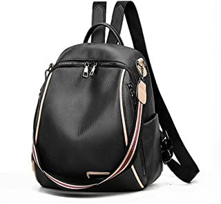 Kleiner PU-Rucksack für Frauen, Leder-Reiserucksack, schwarz blau, Schultasche für Mädchen JU0301