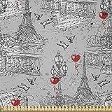 ABAKUHAUS Eiffel Stoff als Meterware, Fluss Seine und