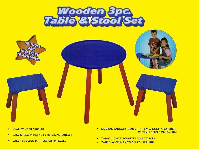 80% de descuento Little Champs - Juego de mesa y y y silla de aprendizaje para nios (3 piezas), Color azul y rojo  todos los bienes son especiales