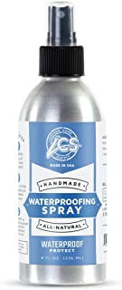 Leather Care Supply Waterproofing Spray - Water Repellent and Protector - All Natural, Non-Toxic. Made in The USA.