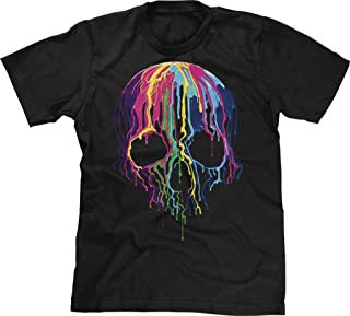 Mens T-Shirt Melting Skull