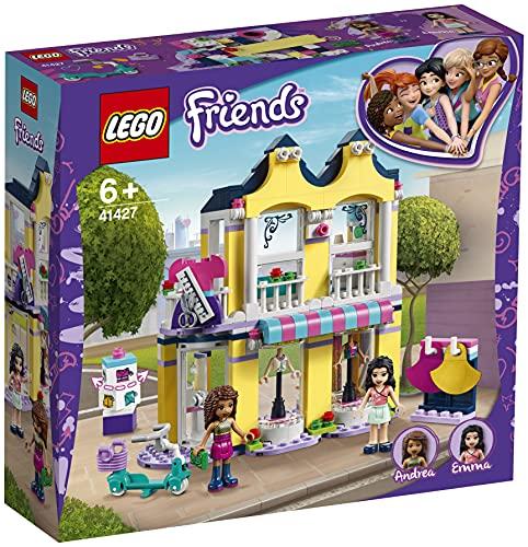 LEGO 41427 Friends Tienda de Moda de Emma Juguete de Construcción para Niños y Niñas de +6 años Boutique con Mini Muñecas