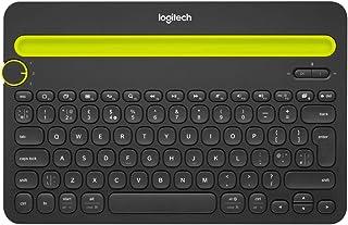 Logitech K480 Teclado Inalámbrico Multidispotivo para Windows, Apple iOS, Android o Chrome, Bluetooth, Diseño Compacto, PC/Mac/Portátil/Smartphone/Tablet, Disposición QWERTY Holandés, Color Negro