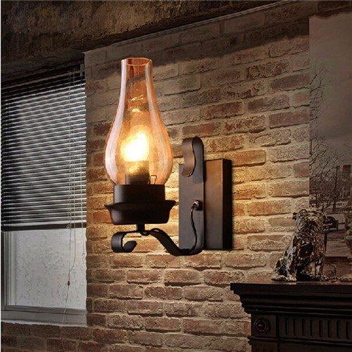 JJZHG wandlamp wandlamp waterdichte wandverlichting retro creatieve persoonlijkheid restaurant bar tafellamp gang wandlamp, rood bevat: wandlamp, stoere wandlampen, wandlampen design