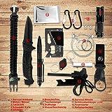 LC-dolida Survival Kit 15 in 1, Außen Notfall Survival Kit mit Messer/Taktische Taschenlampe für Camping/Bushcraft/Wandern/Jagden/Outdoor Abenteuer - 5