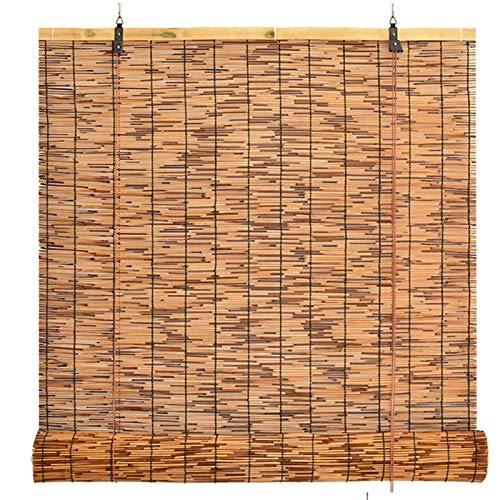 WZRIOP Persianas de Caña Persianas Enrollables de Bambú, Aislamiento térmico y ventilación,En Interiores y Exteriores Ventana Persianas Múltiples Tamaños(115x180cm/46x72in)