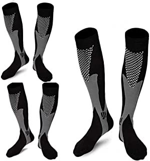 ZFiSt 3 Pairs Medical&Althetic Compression Socks for Men,20-30 mmhg Nursing Socks for Edema Diabetic Varicose Veins Running