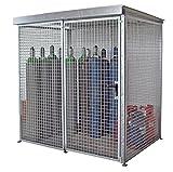 Gasflaschen-Container mit Dach für max. 48 Gasflaschen Ø 220 mm