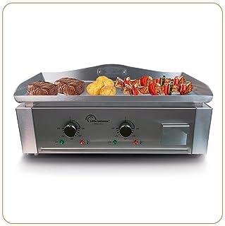 LITTLE BALANCE 8476 Aquitaine Pro, Plancha professionnelle électrique, 2 zones de cuisson indépendantes, Puissance 3500 W,...
