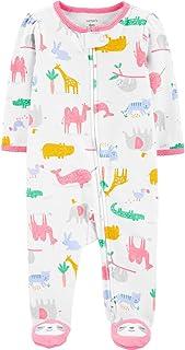 Macacão Pijama Carter's Animais Algodão Bebê Menina