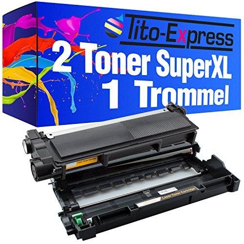 Serie Platinum 1x Tamburo e 2x Toner Super-XL per Brother DR-2300 TN-2320 HL-L2300D L2340DW L2360DN L2365DW MFC-L2700DW L2700DN L2740DW DCP-L2500D L2520DW L2540DN L2560DW L2700DW