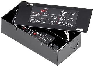 WAC Lighting EN-12150-RB-AR Electronic Transformer, 120V - 12V 150W Max Enclosed