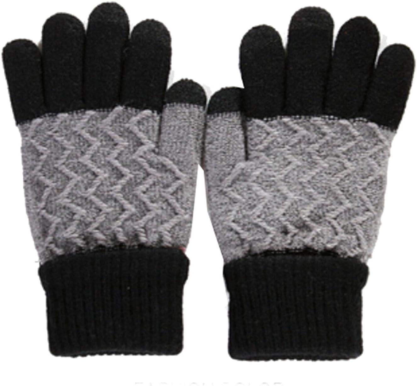 Km Unisex Adult Winter Warm Knit Touchscreen Gloves
