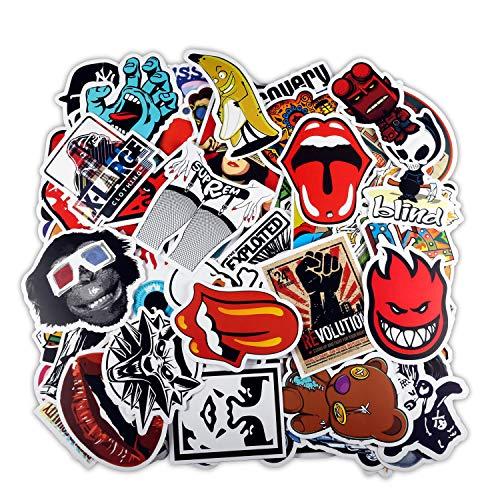 ivencase 200 Pezzi DIY Adesivi Originali Vari Brand Creativi impermeabile Muro Stickers per PC Portatili, Auto Moto, Bicicletta, Abbellire Bagaglio, Skateboard, Snowboard, 200 Stili Diversi