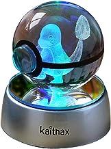 3D Crystal Ball Lamp Laser Engraving Image in The Ball LED Color Change Base (Charmander)