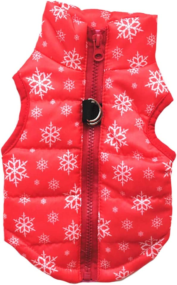 Not Suitable for Big Dogs MaruPet Winter Waterproof Windproof Reversible Dog Vest Coat Warm Dog Vest for Cold Weather Dog Down Jacket for Small Medium Dogs
