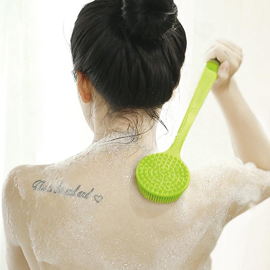 島角度説明的ボディブラシ シャワーブラシ お風呂用 シリコン製 体洗い マッサージブラシ 毛穴洗浄 角質除去 多機能 柔らかい