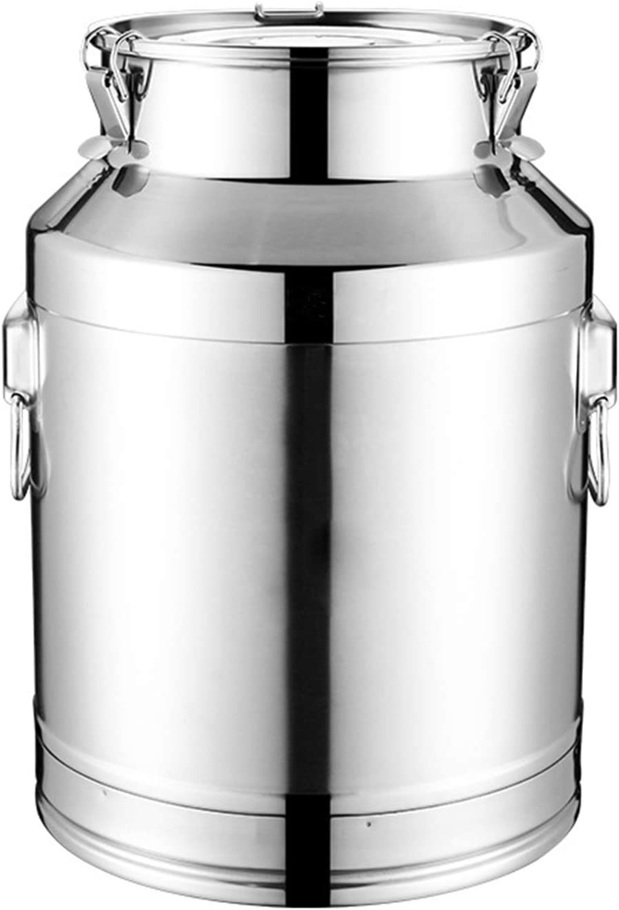 5.5L Milk Can Spring new work Baltimore Mall 201 Stainless Heavy Duty Steel Bucket B