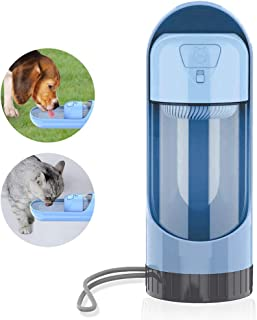 Dog Water Bottle for Walking Traveling Hiking Antibacterial Outdoor Portable Pet Dispenser Bottle with Activated Carbon Fi...