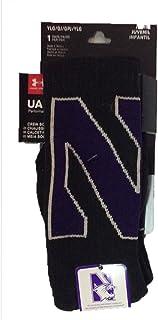 Northwestern Wildcats Under Armour NCAA Black Performance Youth Crew Socks