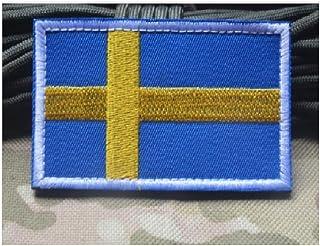 ewkft Sveriges flagga lappar krok och ögla fäst för militäruniform taktisk väska jacka jeans team ryggsäck hatt svenska fl...