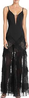 BCBG Max Azria Womens Avaline Lace Sheer Evening Dress