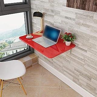 Table murale pliante en bois flottante multifonction pour ordinateur de bureau, table de salle à manger, cuisine, ordinate...