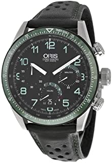 Oris Artix Calobra Chronograph Automatic Black Dial Black Leather Mens Watch 676-7661-4494SET