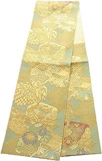 リサイクル 袋帯 正絹 輪奈織 文箱に古典柄や花模様